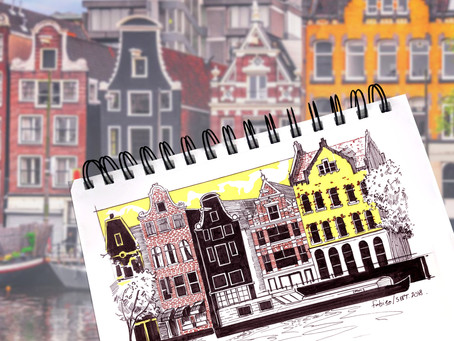 SKETCH SERIE #12 : Amsterdam - Holland