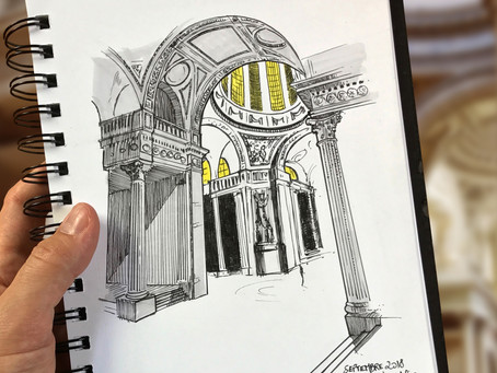 SKETCH SERIE #13 : Panthéon - Paris