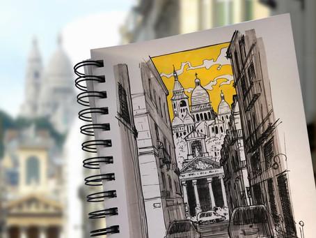 SKETCH SERIE #8 : Sacré Coeur - Paris