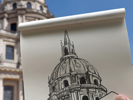 SKETCH SERIE #2 : Panthéon - Paris