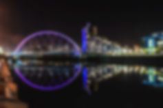 Clyde Arc Bridge In Glasgow At Night_edi