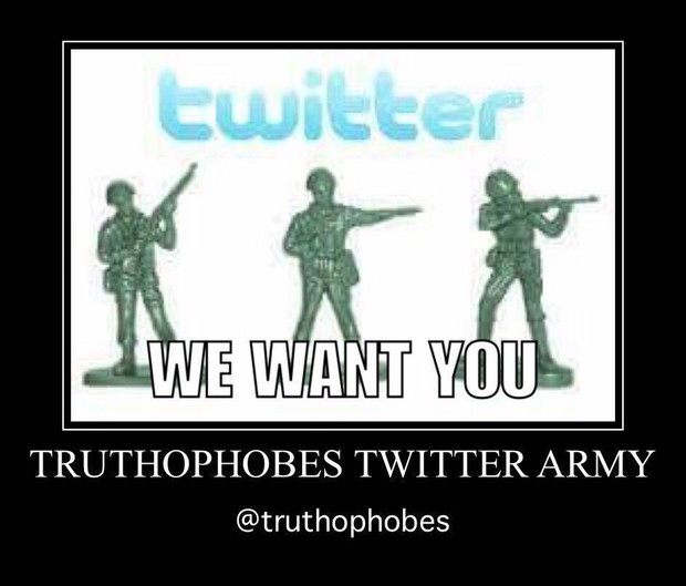 Join the Truthophobes Twitter Army