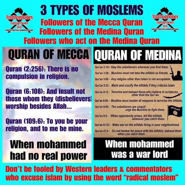 3 TYPES OF MOSLEMS