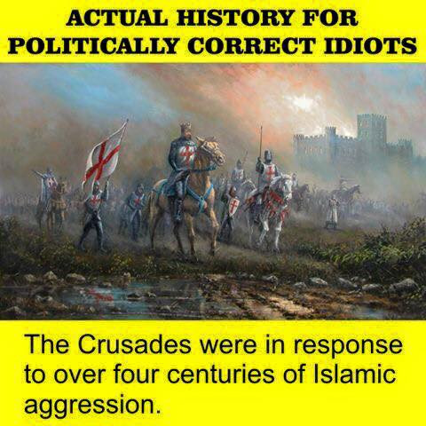 Post this link or information from it to expose lefty lies about the Crusades