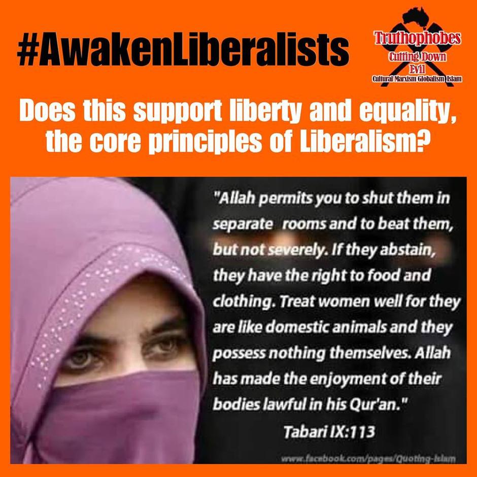 Liberalists Awaken Islam abuses Women