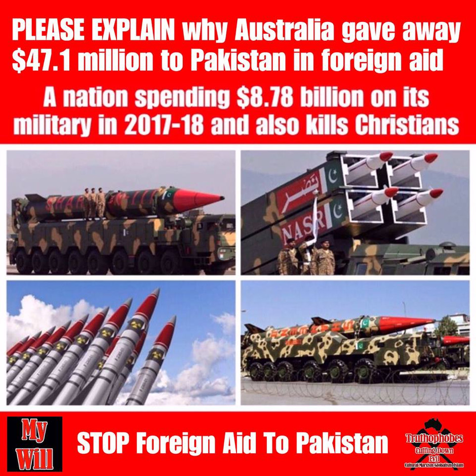 STOP FOREIGN AID TO ISLAMIC COUNTRIES