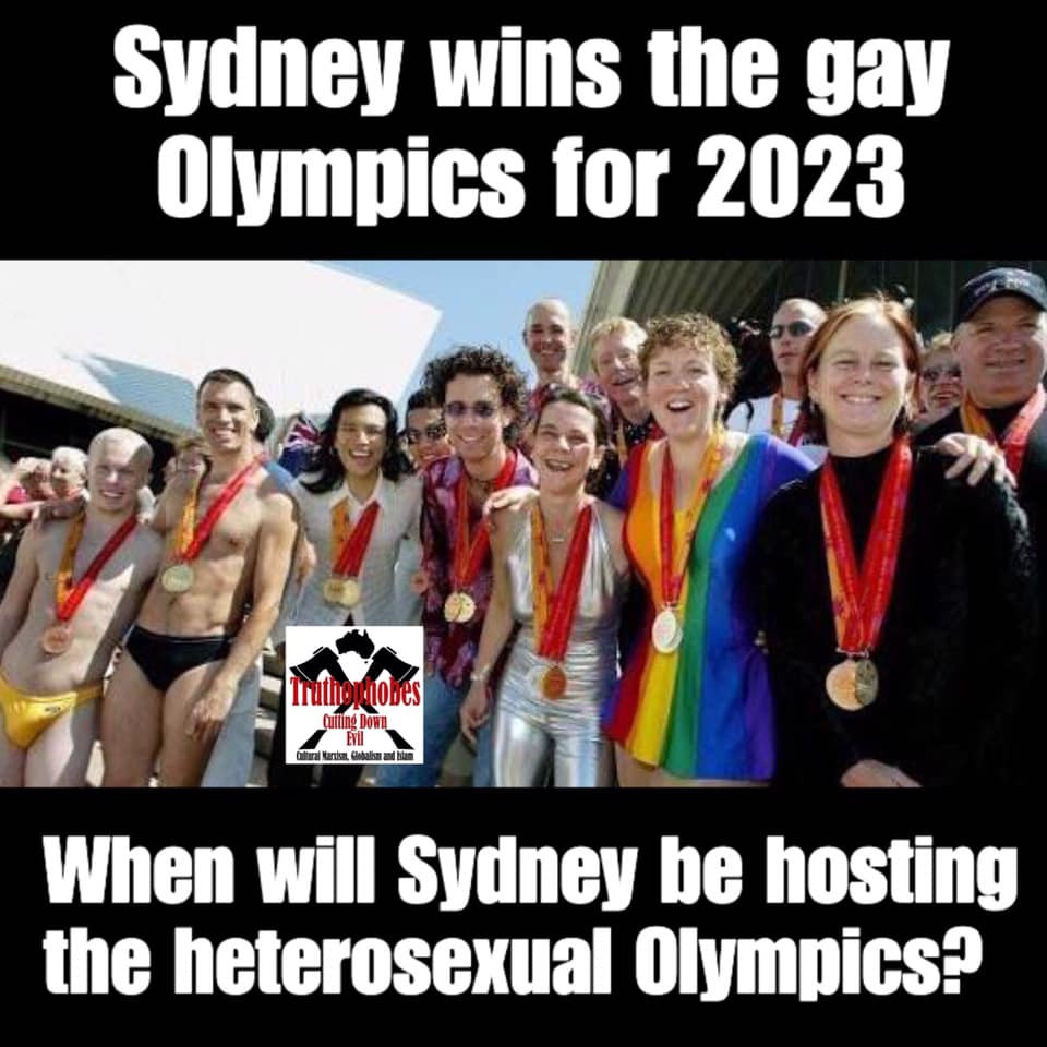 Why should members of the LGBTQ community get their own Olympics?  No one stops them competing at the normal Olympics despite their mental conditions.  #Truthophobes
