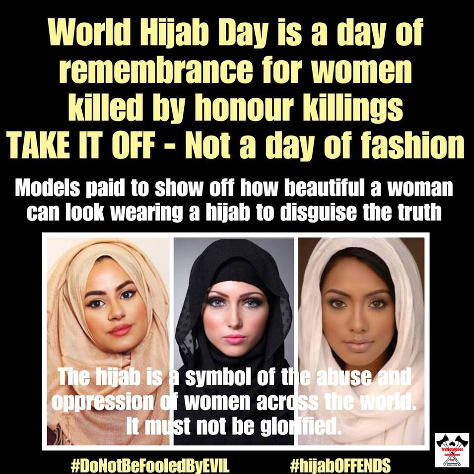 """World NO Hijab Day"""