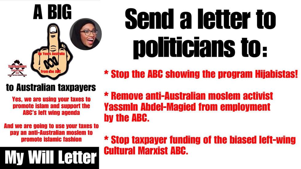 SPEAK UP AGAINST THE LEFT-WING ABC