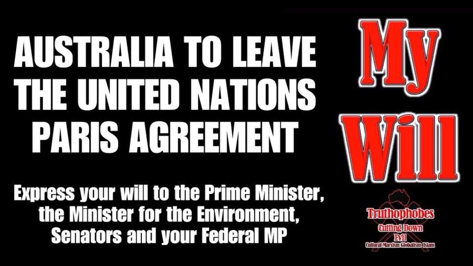 Australia to Leave the Paris Agreement