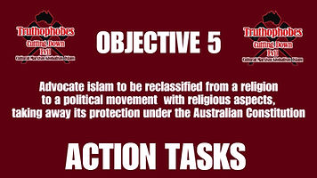 Objective 5 Action Tasks