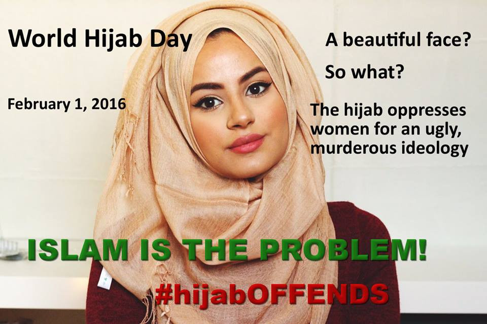 PROTEST AGAINST World hijab day