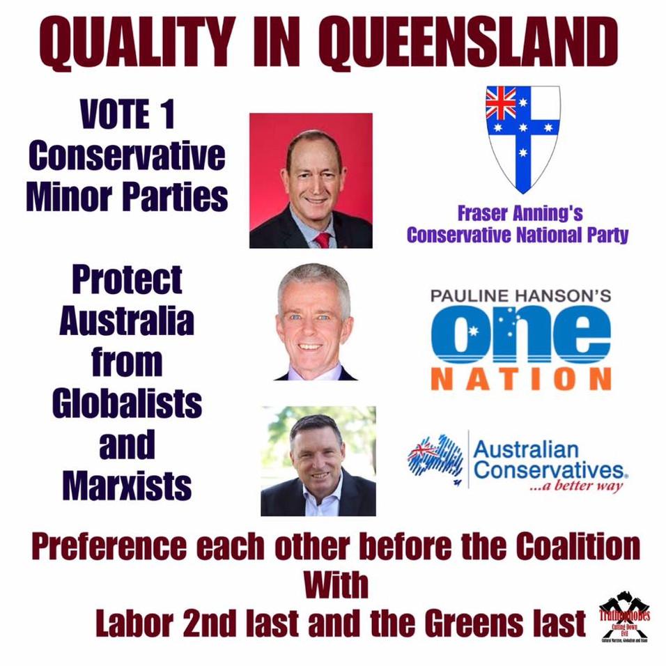 AUSTRALIA NEEDS CONSERVATIVE POLITICIANS IN PARLIAMENT