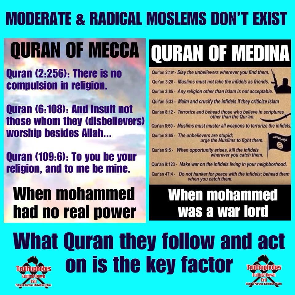 "CALL EVIL BY ITS CORRECT NAME - ""Medina Quran moslems"""