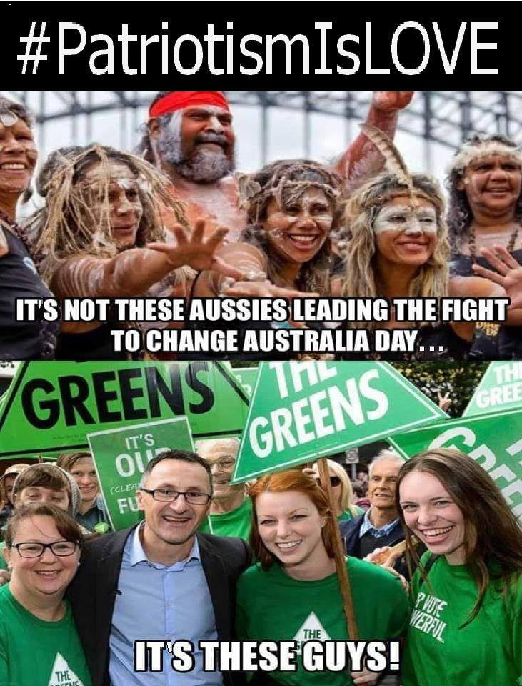 #PatriotismIsLove  Australia needs to stand up against the Green agenda and vote them out of the parliament in 2019.