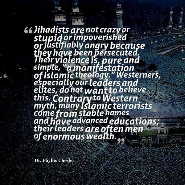 Terrorism is a manifestation of islamic theology