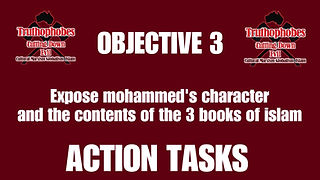 Expose mohammeds character and the contents of the 3 books of islam