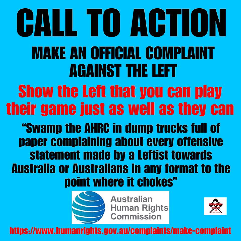 Complain to the Human Rights Commission about the left