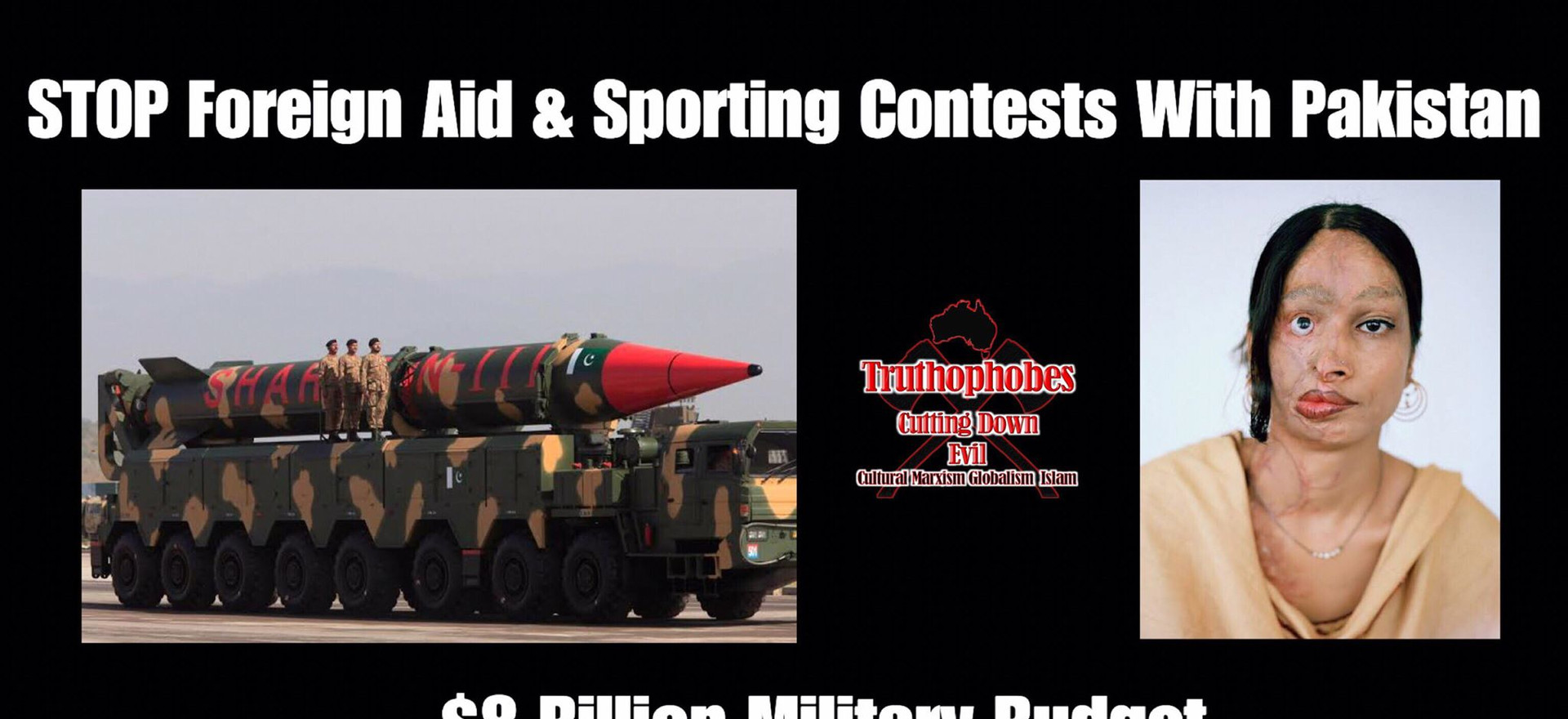 STOP Foreign Aid & Sporting Contests With Pakistan