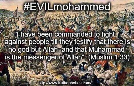DAILY DOSE OF POISON #EVILmohammed   https://www.truthophobes.com/evilmohammed