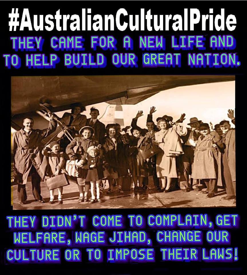 Other Cultures have contributed to our nation, assimilated and become true Aussies.  Not moslems as they are the misfits of multiculturalism * Terrorism (Jihad) * Violence on the streets  * Abuse of women (Quran says its okay to beat a woman) * Abuse of children (FGM and child brides) * Welfare bludgers * mosque fortresses across the country * and they don't respect our laws wanting Sharia  Global Marxist Bill Shorten wants more Islamic immigrants coming to our country as the UN agenda comes before Australia. Vote 1 Shorten if you want Islam.  moslems don't come to assimilate they come to conquer. You can stop them by sharing the truth and voting conservative. Think about joining a conservative political party and help make a difference in 2019.  #AustralianCulturalPride