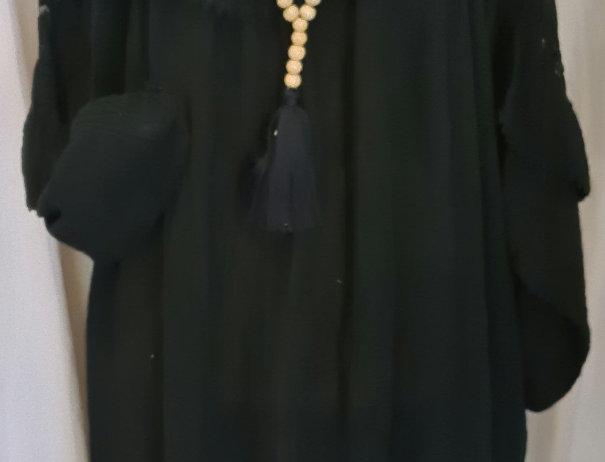 Grande longue robe à porter ceinturée ou dans le vent