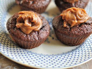 Chocolate and Caramel Mini Cakes