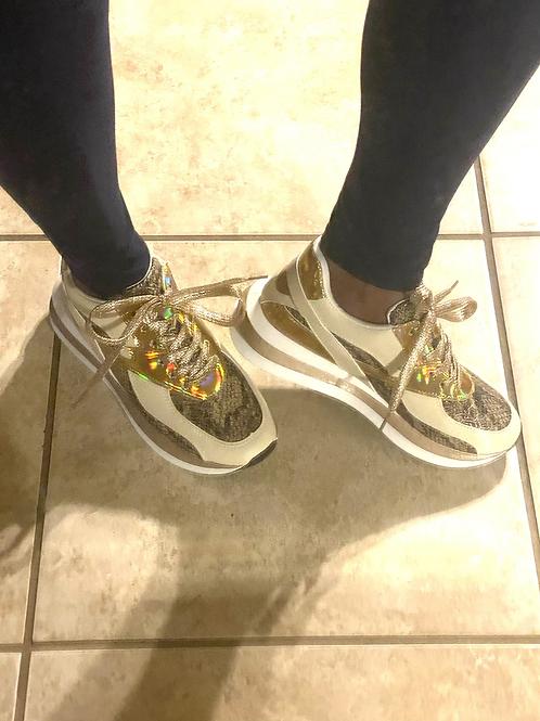Snake Print Sneakers