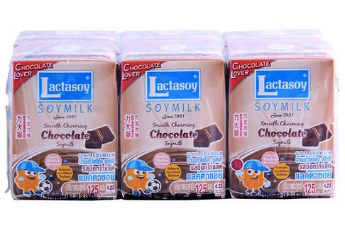 Lactasoy Soymilk Choc 6pack 125ml