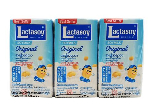 Lactasoy Soymilk Plain 6pack 125ml