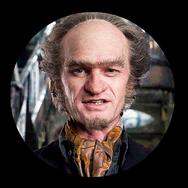 Conde Olaf (Neil Patrick Harris) en Una