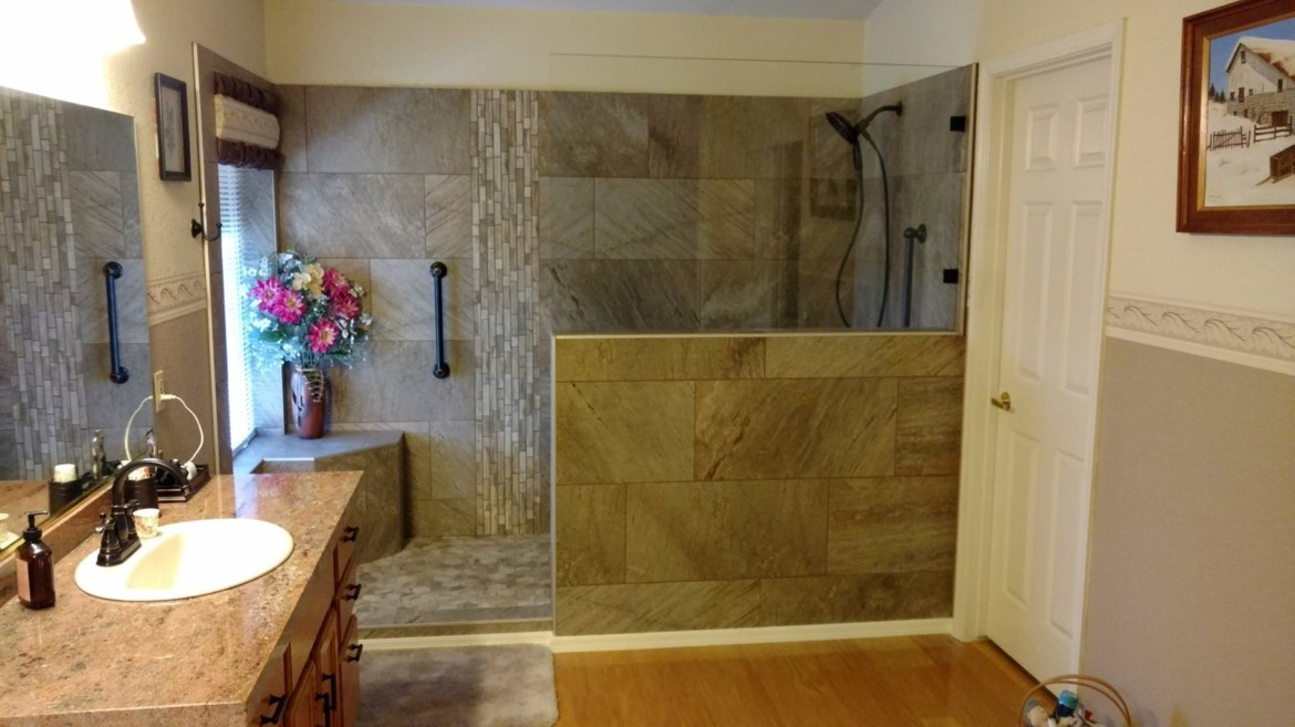 Tub/Shower Conversion to Large Shower
