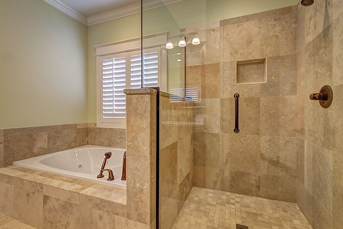 tile shower and tub surround