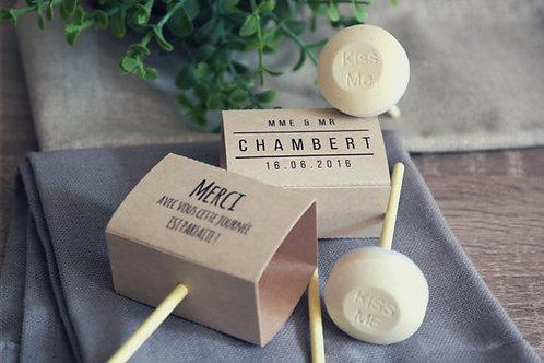 Cadeaux invite: sucettes personnalisées - Comm min 20