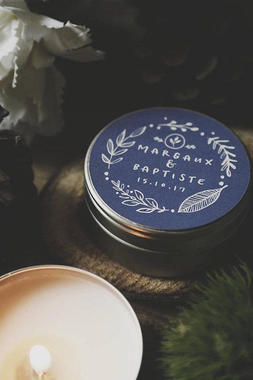 Présents invités - Petite bougie blanche non parfumée - commande minimum 25
