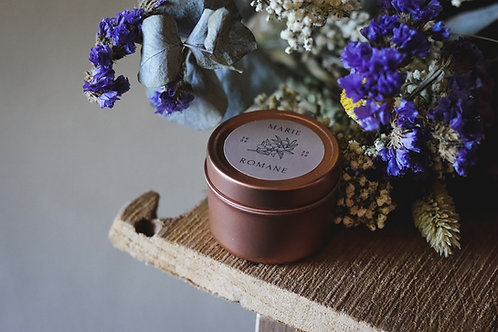 Cadeaux invités - Bougie boîtes gold rose - commande min 25 bougies