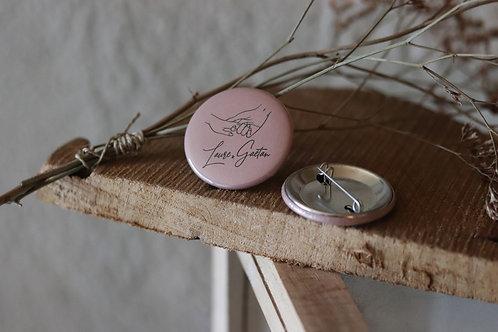 Lot de 10 badges - Cadeaux invités - Badges ronds personnalisés - commande min 1