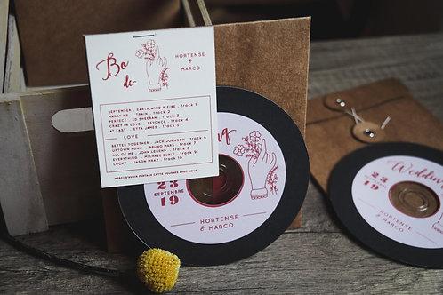 Cadeaux invités - La Bo de votre mariage ( 10 titres ) CD + Pochette - commande