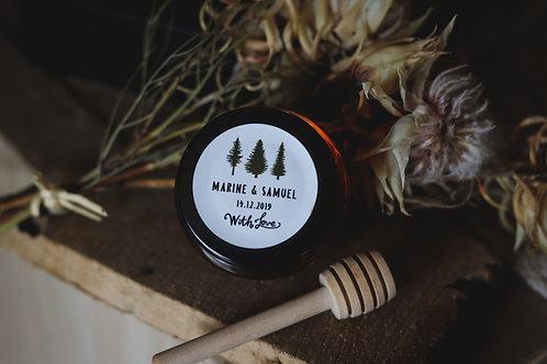 Petit pot gourmand - Miel 65 ml des Landes - Commande minimum 20 pots de miel