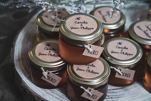 Cadeaux invités : Petit pot gourmand - Miel 30 Ml d'Occitanie - Commande minimum
