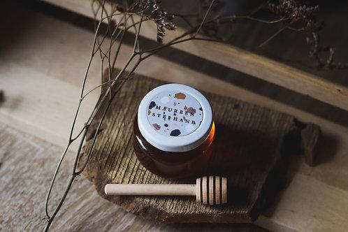 Petit pot gourmand - Miel 65 ml des Landes + petite cuillère - minimum 20 pots