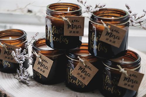 Cadeaux invités : Petite bougie - commande minimum 30