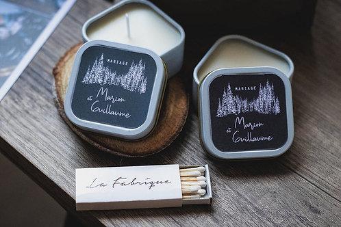 Cadeaux invités - Bougie boîtes ( blanc ) - commande min 25