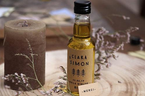 Cadeaux invités : Petite dosette d'huile d'olive bio - Commande minimum 25 3,40