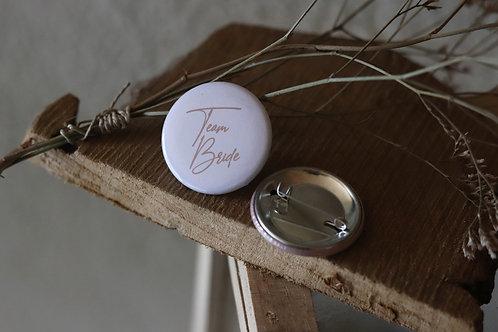 """Lot de 10 badges """" Team Bride """" - Cadeaux invités - Badges ronds personnalisés -"""