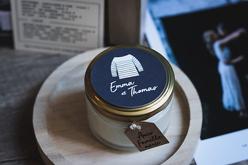 Cadeaux invités : Bougie commande + petite étiquette - commande minimum 30
