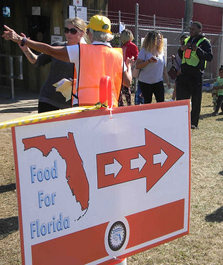 Food for Florida emergency assistance sign