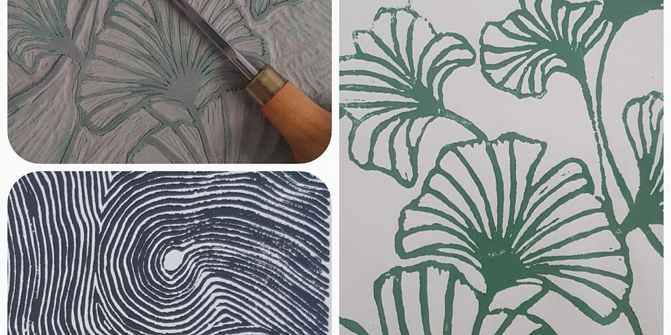 Atelier Linogravure, imprimez une estampe  à partir de votre création en gravure