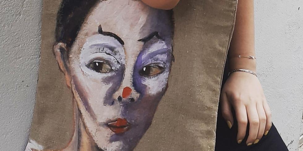 Atelier peinture sur Tote bag, customisation jeans, t-shirt, vestes, basquets
