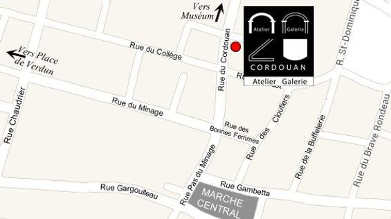 Plan d'accès à l'Atelier Galerie Cordouan 20 La Rochelle